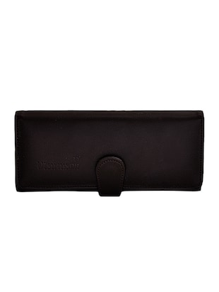 brown leatherette fold over clutch -  online shopping for clutches