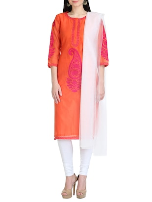 KAANCHIE NANGGIA orange kurta dupatta set