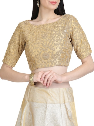 KAANCHIE NANGGIA beige embroidered blouse