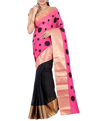 The Chennai Silks pink half and half saree -  online shopping for Sarees