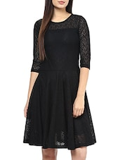 black net fit and flare dress -  online shopping for Dresses