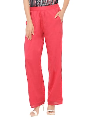 pink cotton palazzos