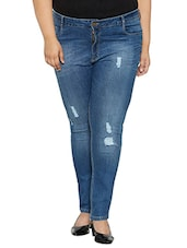 blue distressed denim jean -  online shopping for Jeans