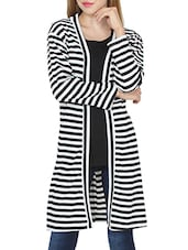 black striped cotton regular shrug -  online shopping for Shrugs