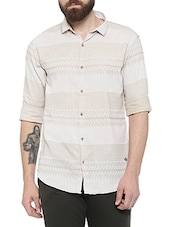 beige cotton casual shirt -  online shopping for casual shirts