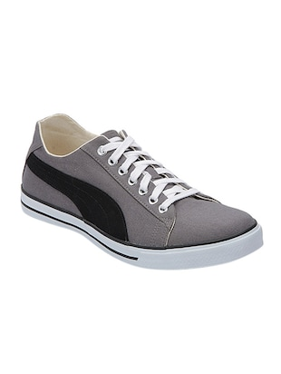 grey Canvas lace up sneaker -  online shopping for Sneakers