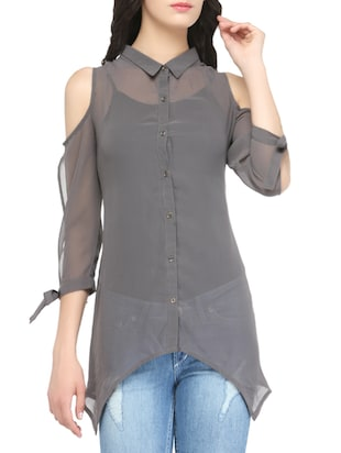 grey georgette top