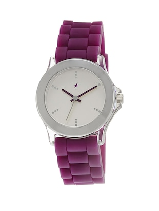 Fastrack Silver Dial Multi Color Analog Watch For  Women's - 9827PP06 -  online shopping for Wrist watches