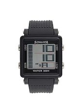SONATA Grey Dial Digital Watch For Men - 77043PP01 -  online shopping for Digital watches