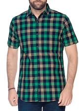 green cotton casual shirt -  online shopping for casual shirts