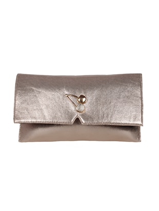 gold leatherette  clutch