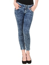 blue skinny fit denim jean -  online shopping for Jeans