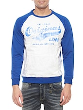 blue cotton raglan sweatshirt -  online shopping for Sweatshirts