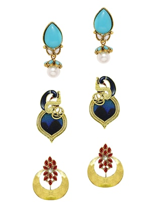 multi zinc chandballi earring