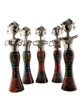Set of 5 Elegant Handpainted Multicoloured Musicians Statue -  online shopping for Statues & sculptures