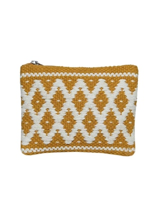 yellow cotton regular pouch