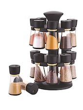 Black Revolving Spice Rack With Set of 16 Jar -  online shopping for Spice Racks