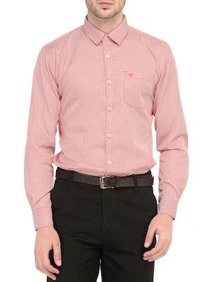 red cotton formal shirt