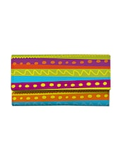 multi colored leather  clutch -  online shopping for clutches