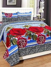 Flossy Polycotton 3D Double bedsheet with 2 Pillow Covers -  online shopping for bed sheet sets