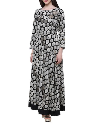 black viscose maxi dress -  online shopping for Dresses