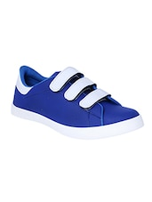 blue leatherette slip on sneaker -  online shopping for Sneakers
