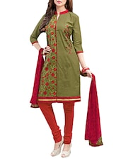 mehandi cotton churidaar suits dress material -  online shopping for Dress Material