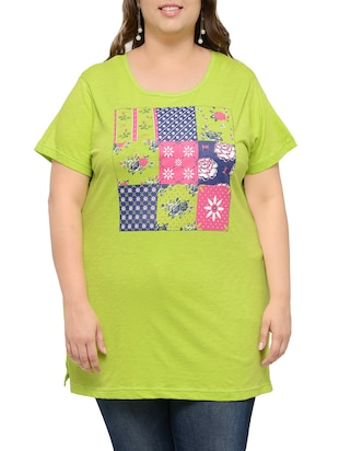lime green cotton plus tee