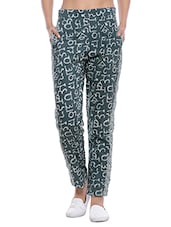 green cotton cigarette pant -  online shopping for Trousers