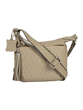 beige leather sling bag -  online shopping for sling bags