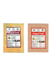 Shagun Gold Natural 100% Chemical Free  Brown, With Red Hair Henna 100 X100Gram - By