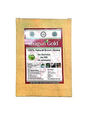 Shagun Gold Brown Henna Hair Color  100%  Chemical Free ( 180 Gram = 3 Packet) - By