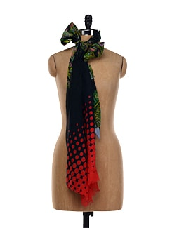 Red And Black  Contemporary Scarf - TIARA