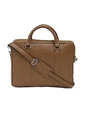 brown leatherette laptopbag -  online shopping for laptopbags