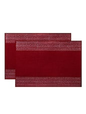 Hand Block Printed Laminated Jute Table Placemats By Rajrang -  online shopping for Placemats