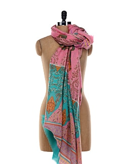 Pink Woolen Shawl - Shingora