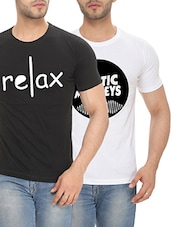 multi colored cotton t-shirt (Set of 2) -  online shopping for T-Shirts