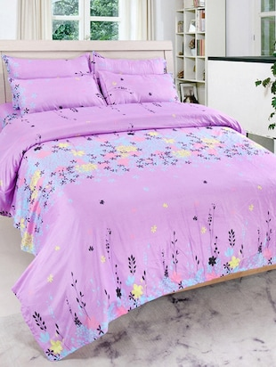 Printed Cotton Double Bed Sheet with 2 Pillow Covers By Shopaholic -  online shopping for bed sheet sets