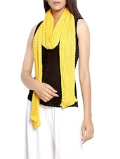 yellow chiffon scarf -  online shopping for Scarves