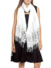 white polyester scarf -  online shopping for Scarves