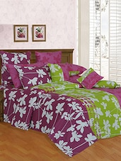 Printed Cotton Double Bed Sheet with 2 Pillow Covers By Salona Bichona -  online shopping for bed sheet sets