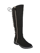 black knee length  boot -  online shopping for boots