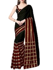 black woven saree -  online shopping for Sarees