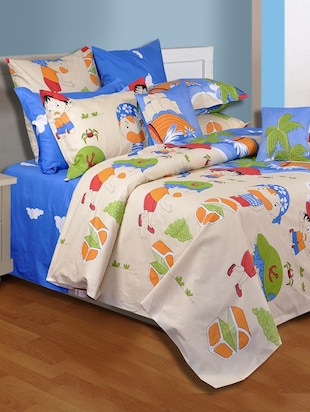 100% Cotton Double Bedsheet with Two Pillow Covers By Salona Bichona
