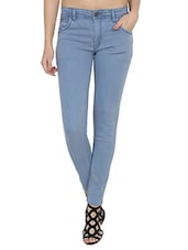 slim fit light blue denim jean -  online shopping for Jeans