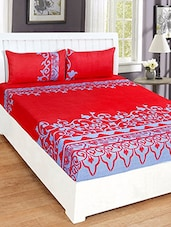 Printed Cotton Double Bedsheets with 2 Pillow Covers -  online shopping for bed sheet sets