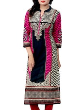 Multicolored cotton straight kurta -  online shopping for kurtas