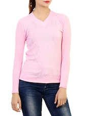 pink woolen casual pullover -  online shopping for Pullovers