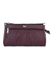 purple leatherette  regular purse -  online shopping for Purses