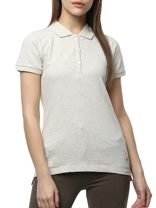 grey cotton lycra tee